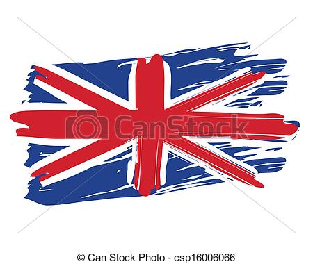 450x380 Painted British Flag. Painted British National Flag Isolated