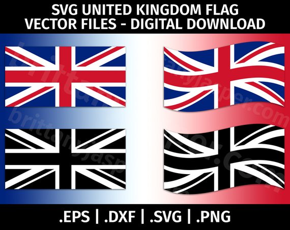 570x453 United Kingdom Flag Svg Vector Clip Art Cutting Files For Etsy
