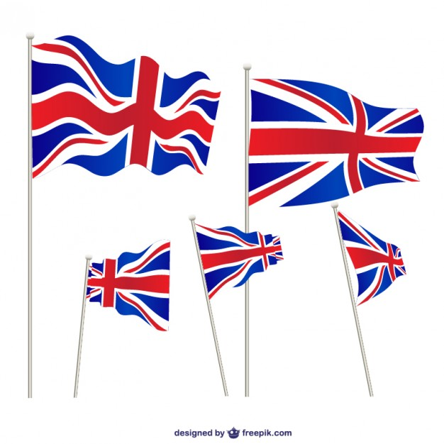 626x626 United Kingdom Flags Set Vector Free Download