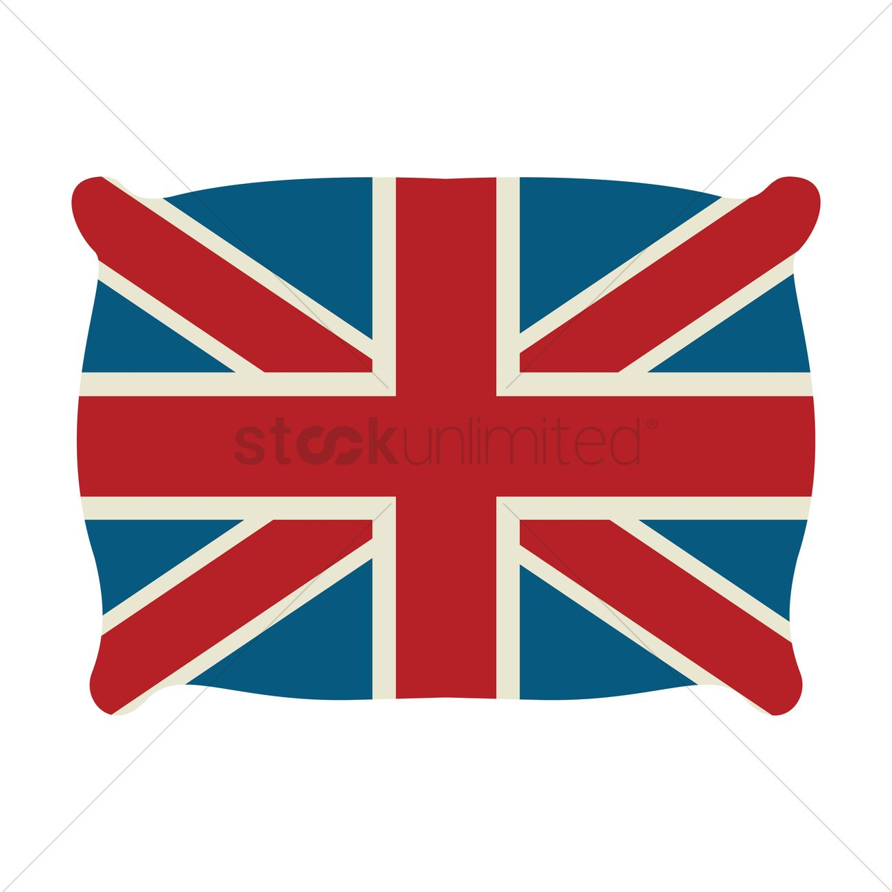 1300x1300 United Kingdom Flag Vector Image