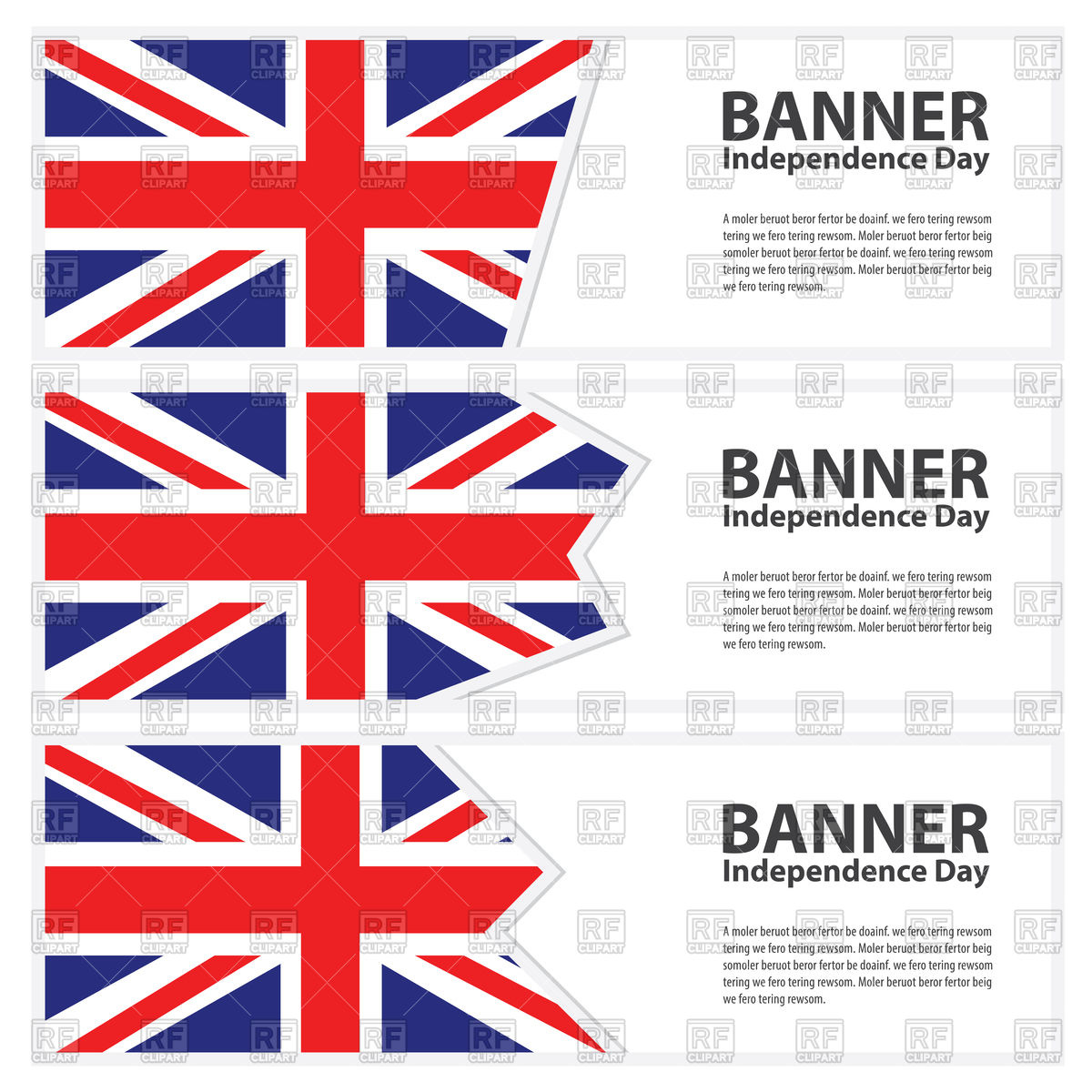 1200x1200 United Kingdom Flag Banners Vector Image Vector Artwork Of