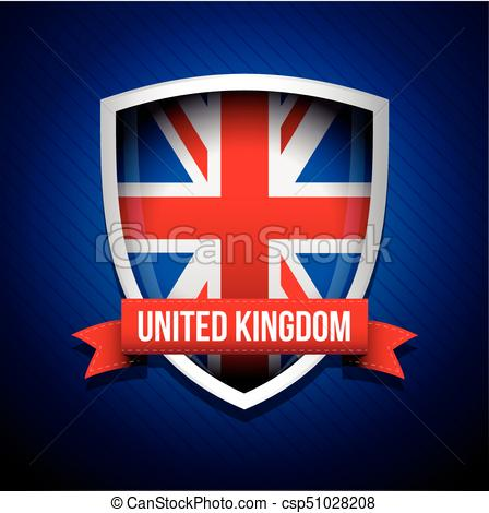 448x470 United Kingdom Flag Shield Vector.