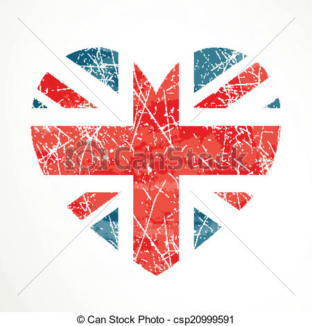 450x470 Vector United Kingdom Flag. Vector Illustration Of The United