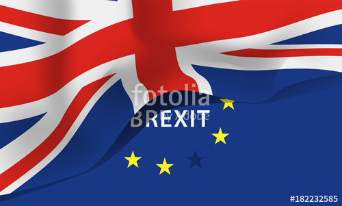 500x301 Great Britain Flag, United Kingdom Flag Vector Icon Stock Image