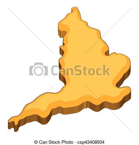 450x470 Map Of United Kingdom Icon, Cartoon Style. Map Of United Kingdom
