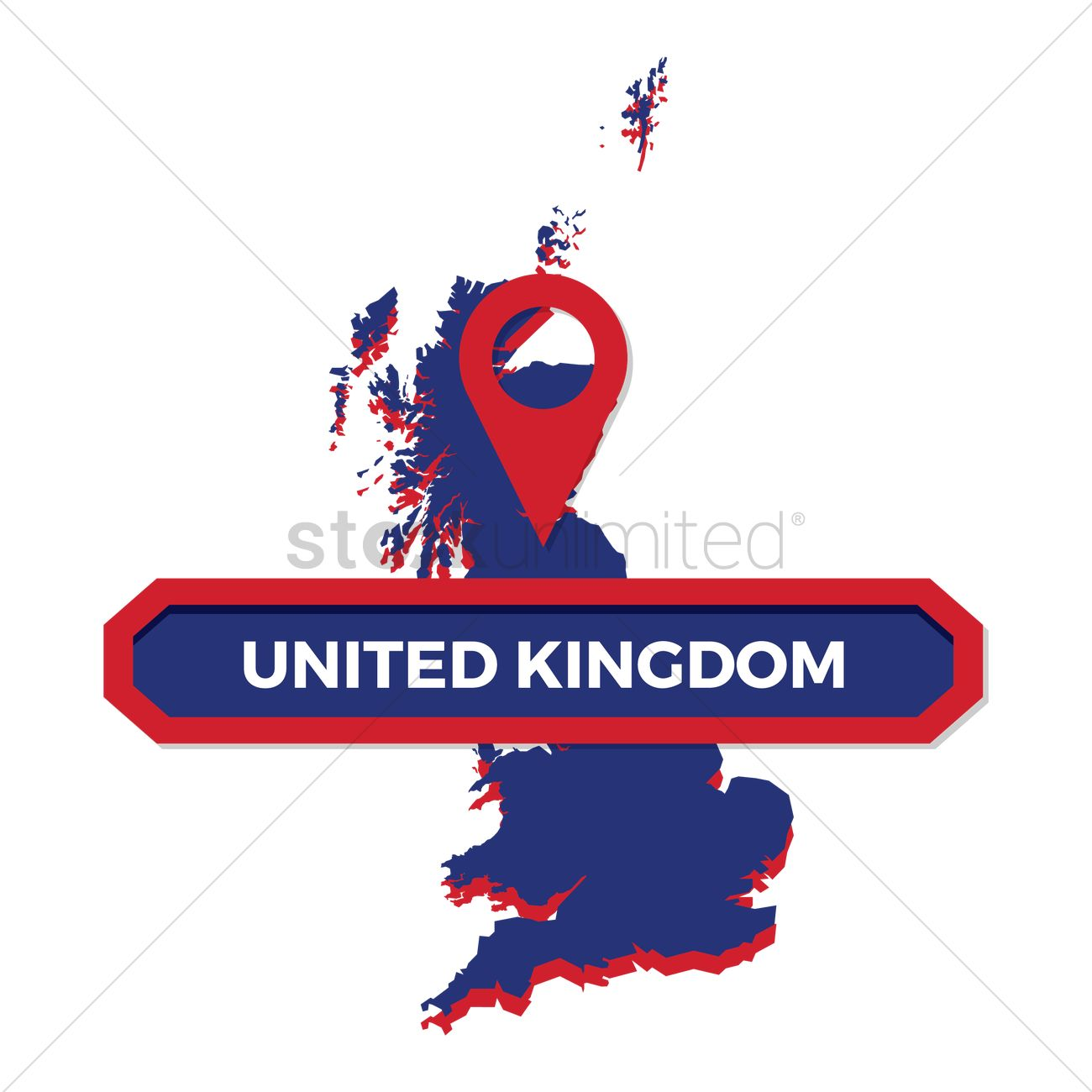 1300x1300 United Kingdom Vector Image