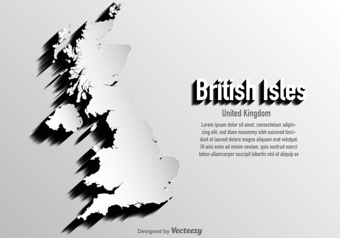 700x490 Vector United Kingdomritish Isles Map