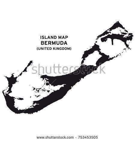 450x470 Island Map Bermuda United Kingdom Vector Stock Vector 753453505