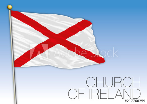 500x354 Church Of Ireland Flag, United Kingdom, Vector Illustration