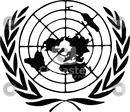 450x386 United Nations Logo Stock Vector