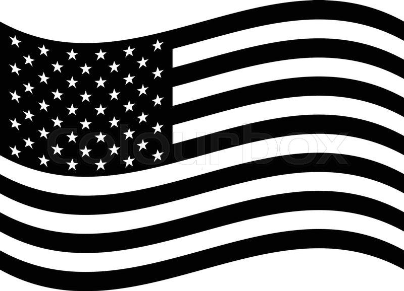 800x578 American Flag Vector Icon Stock Vector Colourbox