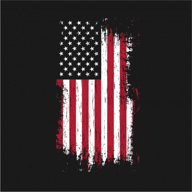 626x626 Grunge Usa Flag Vector Vector Premium Download