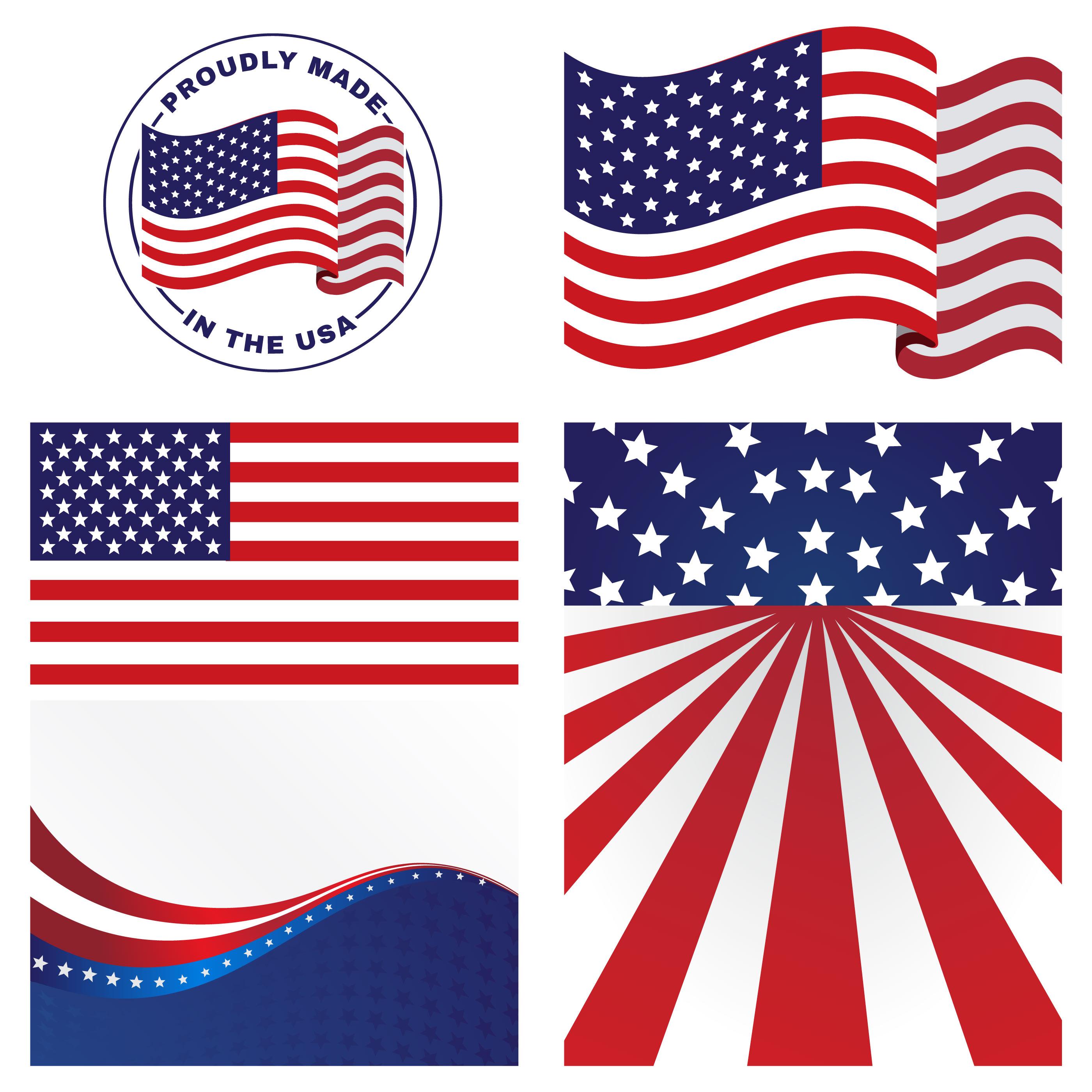 2800x2800 Us Flags Vectors