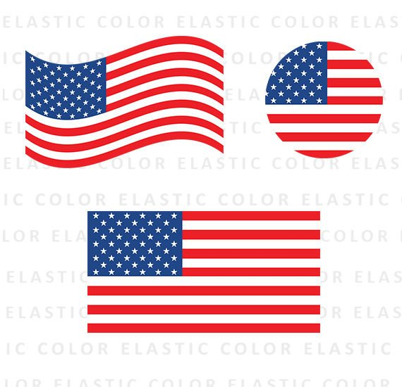 570x550 Usa Flag Svg American Flag Clipart Usa Flag Vector Digital Etsy