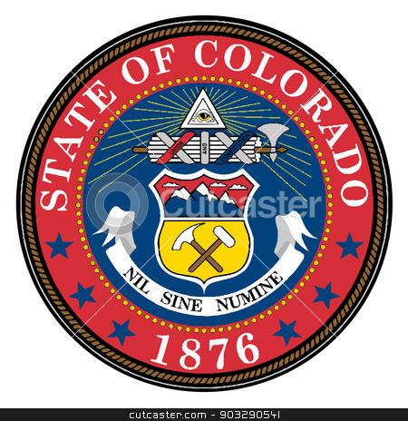 450x464 Colorado State Seal Stock Vector
