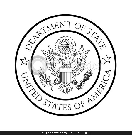 450x460 Us Department Of State Seal Stock Vector
