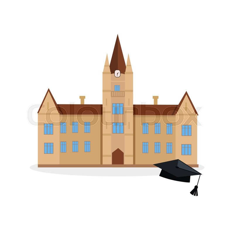 800x781 School And University Or College Building Icon. Education Student