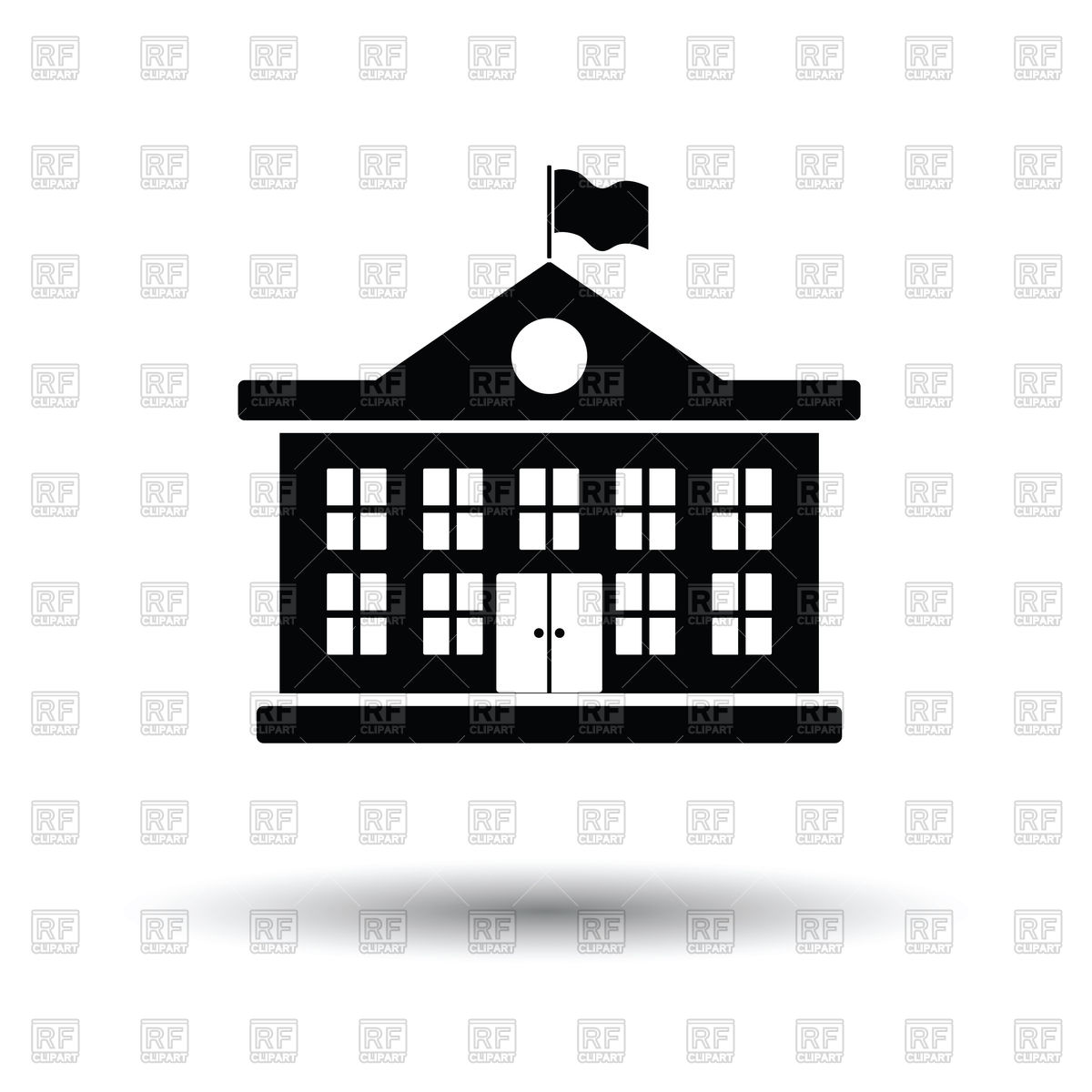1200x1200 School Building Icon, College Or University On White Background