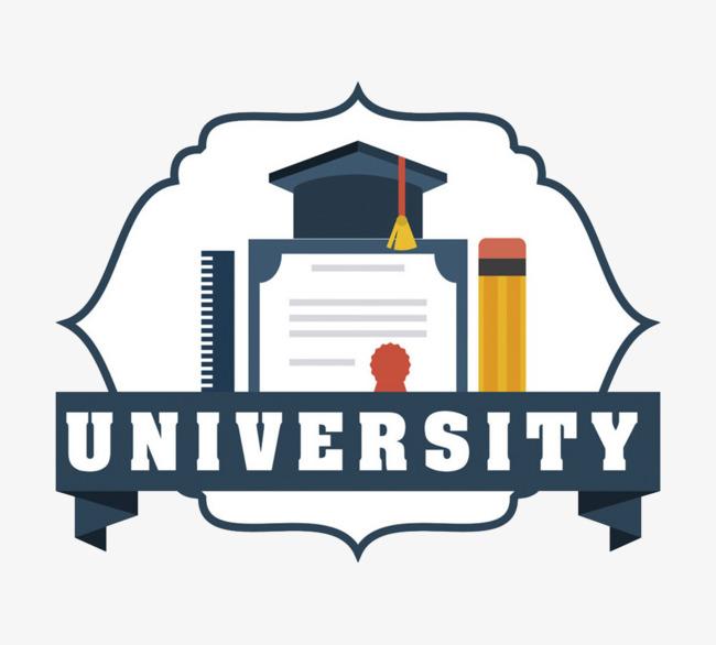 650x586 University Logo Vector Material, The University, Badge, Label Png