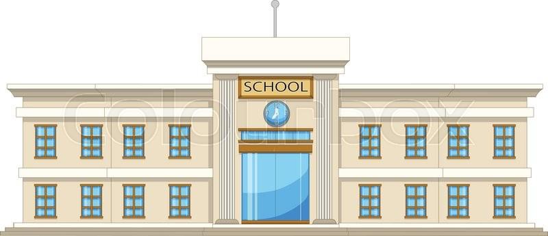 800x345 Vector Illustration Of Beautiful University Cartoon Stock Vector