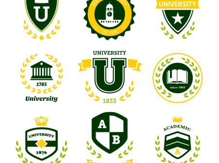 452x336 Creative Green University Logos Vector Icons Free Creative Green