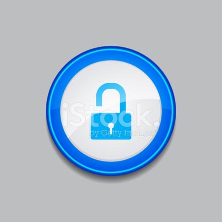 440x440 Unlock Circular Blue Vector Web Button Icon Stock Vector
