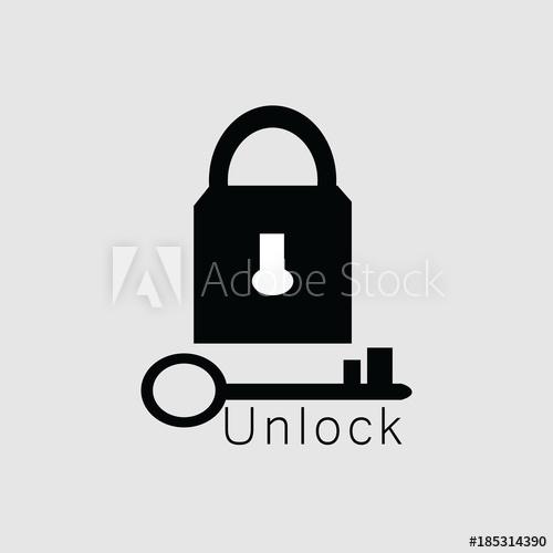500x500 Unlock Vector Template Design