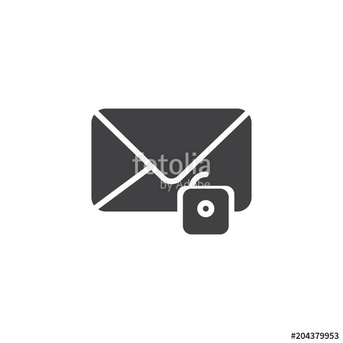 500x500 Unlock Email Vector Icon. Filled Flat Sign For Mobile Concept And