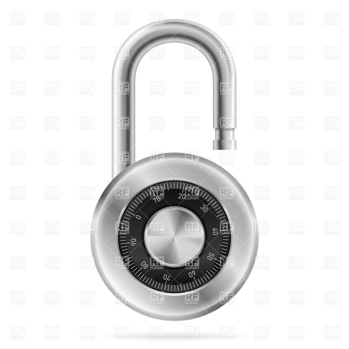 1200x1200 Unlocked Combination Lock Vector Image Vector Artwork Of Objects