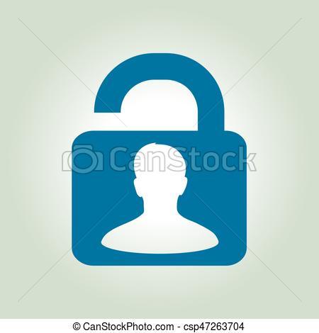 450x470 Icon Of Unlock. Unlock Icon. Flat Design Style. Access To