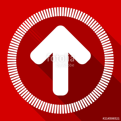 500x500 Up Arrow. Vector Icon. Upload Illustration. Stock Image And