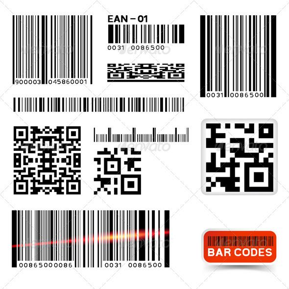 590x590 Vector Barcode Label Collection Bar Code, Bar Code, Black