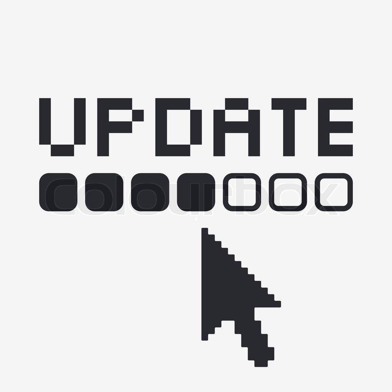 800x800 Vector Illustration Of Single Update Icon Stock Vector Colourbox