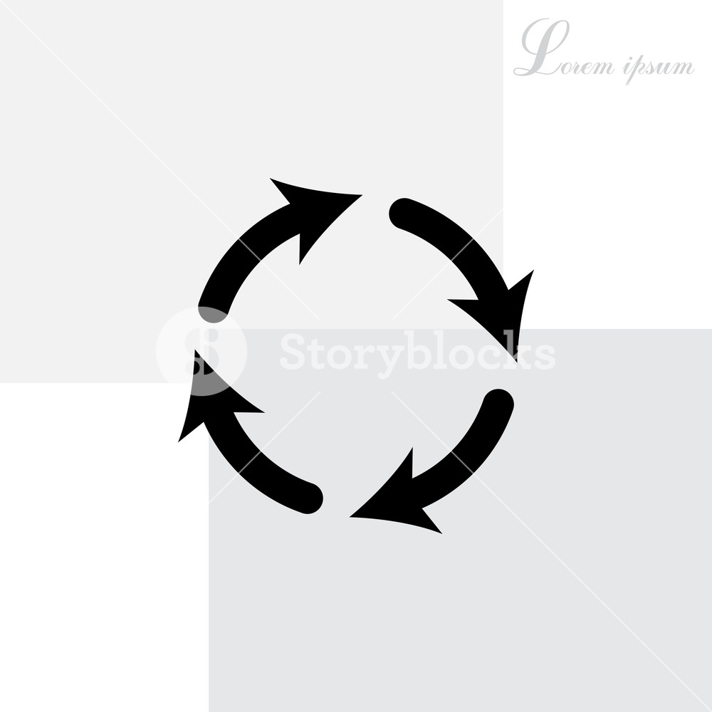 1000x1000 Vector Update Icon Royalty Free Stock Image