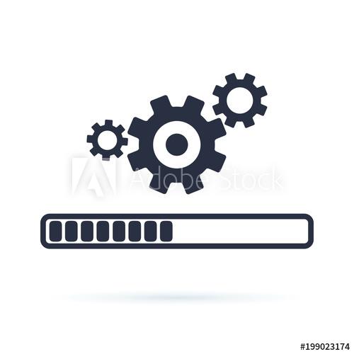 500x500 Update System Icon Vector. Modern Flat Design Vector Illustration