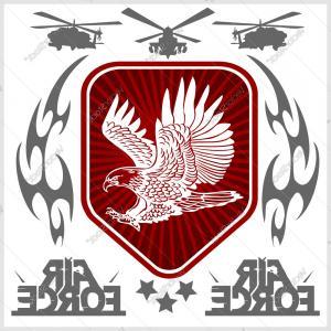 300x300 Air Force Eagle Team Vector Art Sohadacouri
