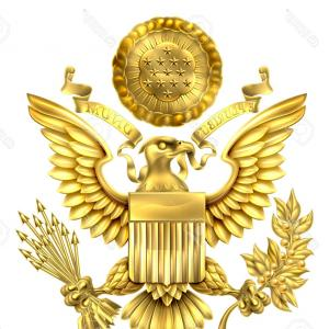 300x300 Photostock Vector Gold Great Seal Of The United States American
