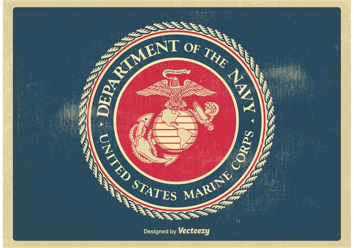 700x490 Vintage Us Marine Corps Seal