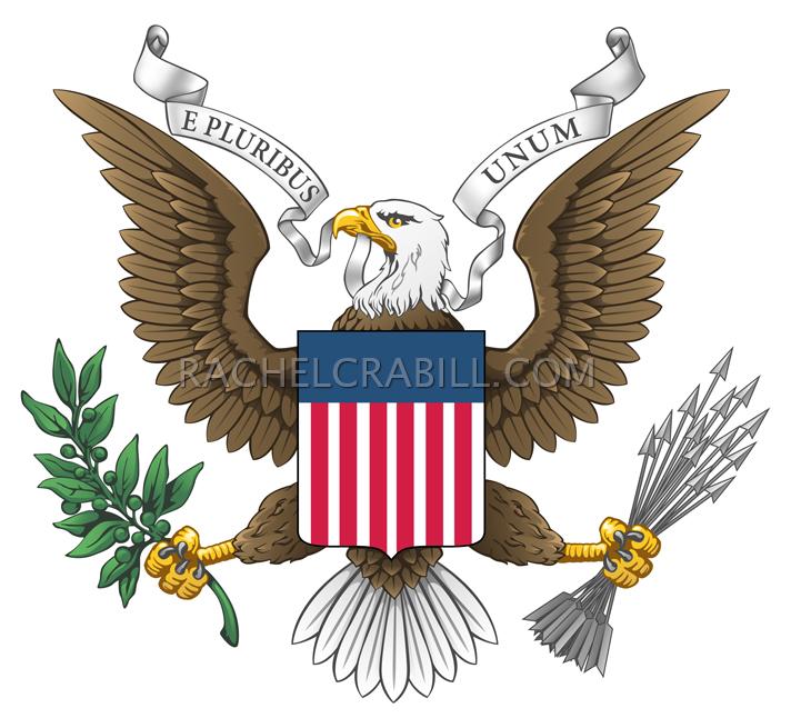 712x655 Army Eagle Seal Vector