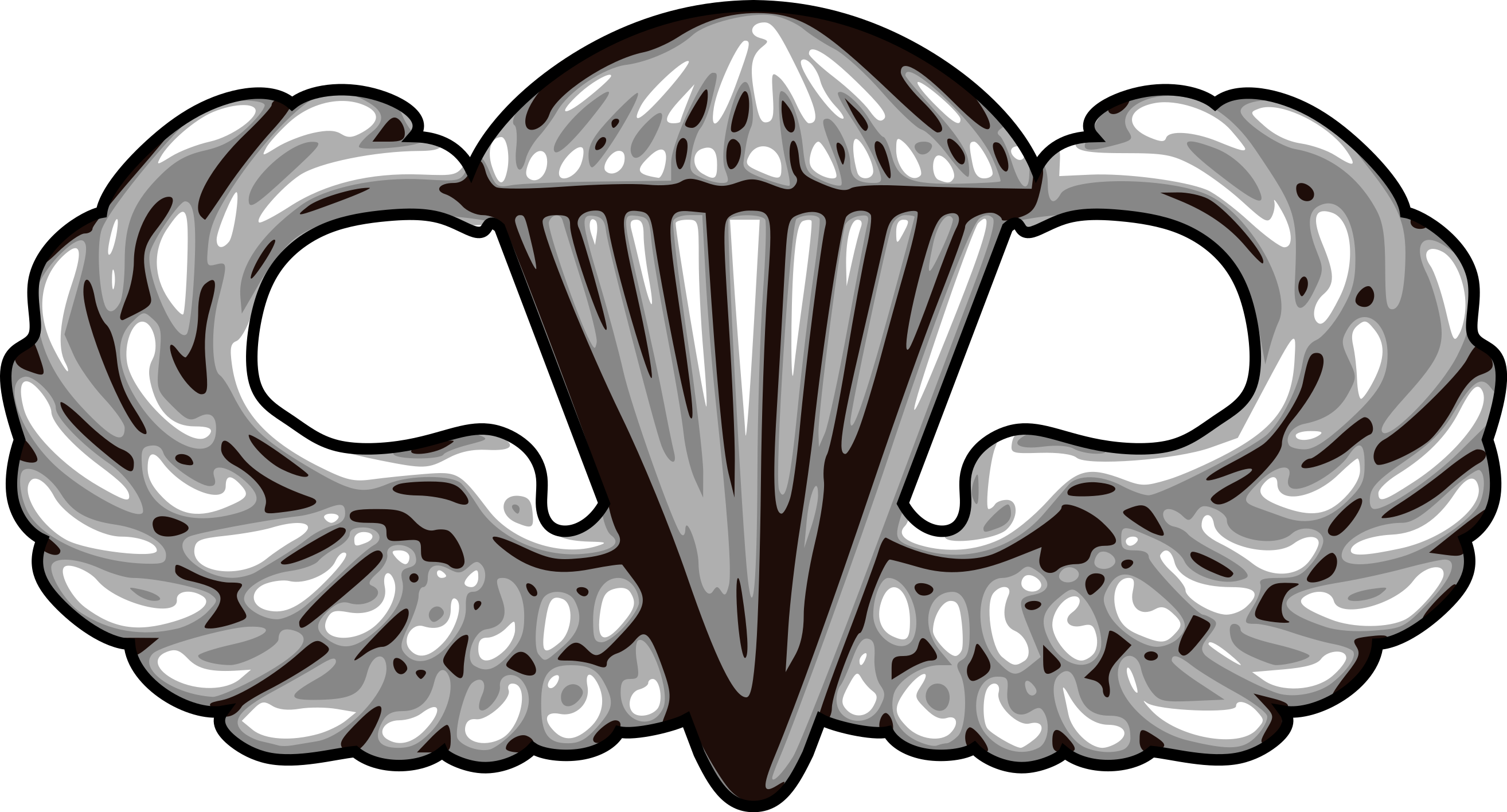 2628x1416 Fileus Army Airborne Basic Parachutist Badge Vector.svg