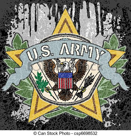 450x470 The Vector Image Of Color American Army Symbol.