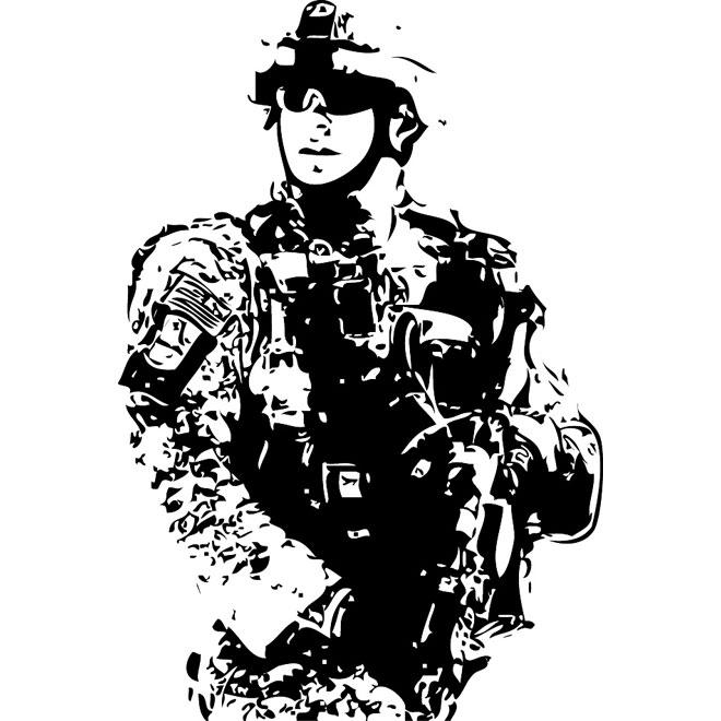660x660 Us Soldier Vector