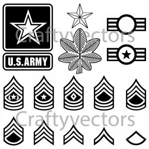 300x300 Us Army Badges And Stripes Vector File Sohadacouri