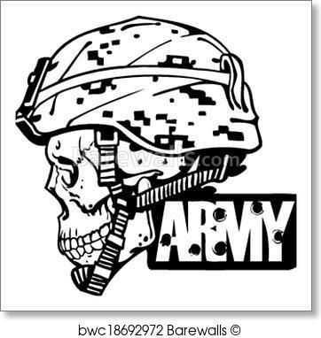 362x382 Art Print Of Us Army Military Design