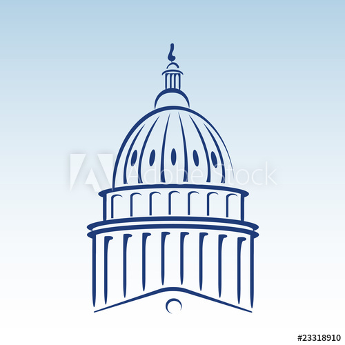 500x500 Us Capitol Dome Vector Illustration