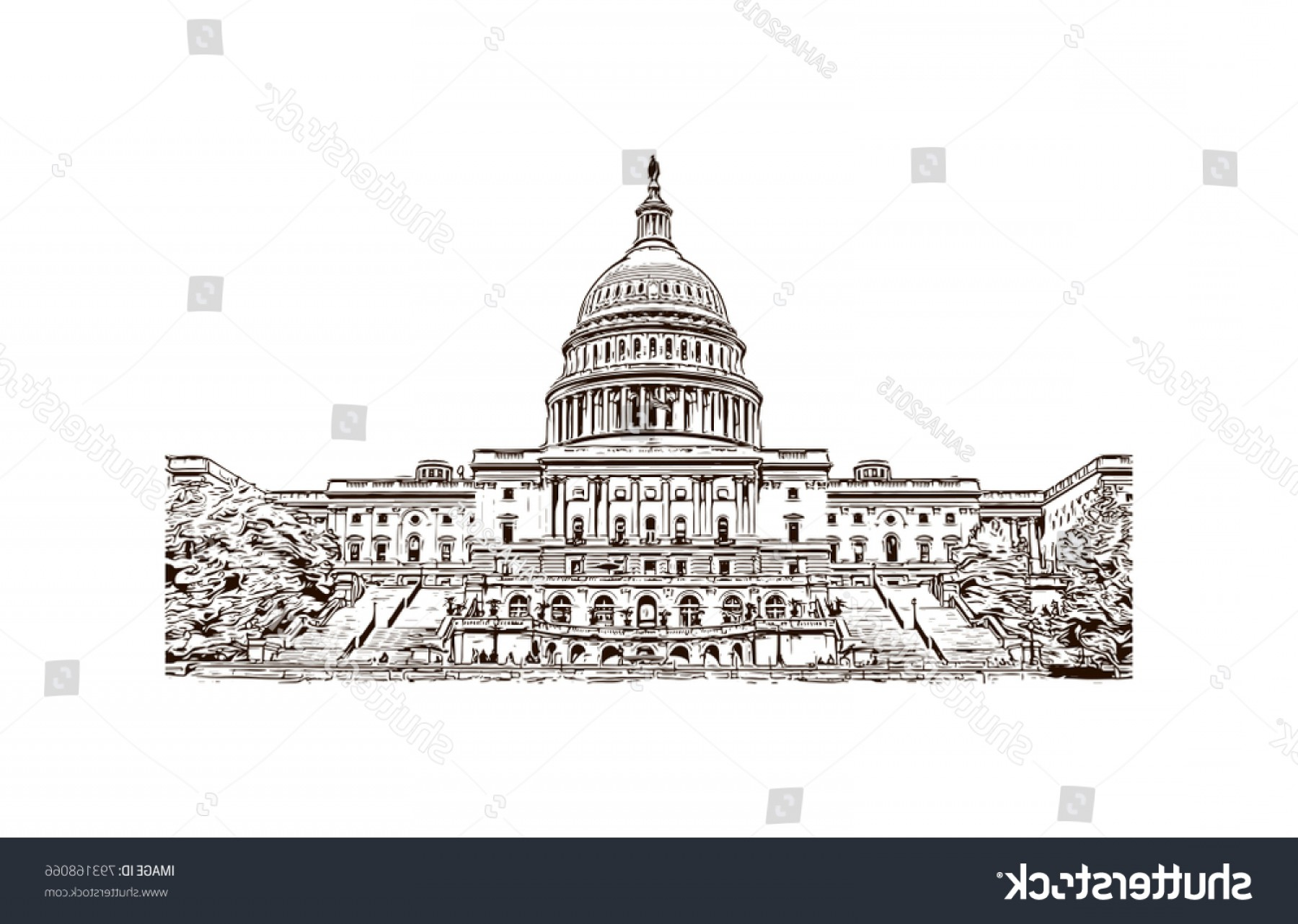 1800x1282 Us Capital Vector Line Drawing Sohadacouri