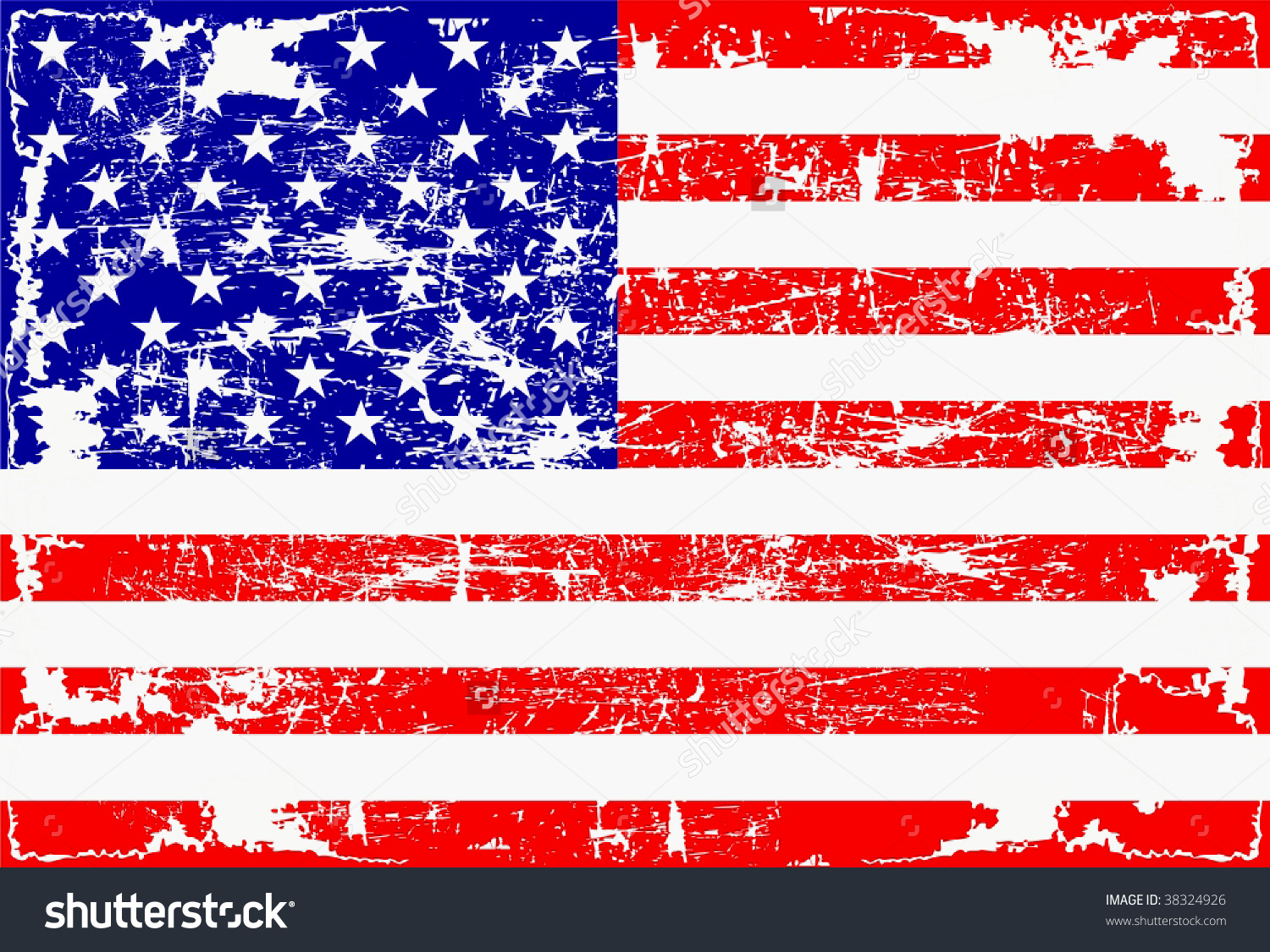 1500x1126 United States Distressed Flag Graphic Black And White Stock
