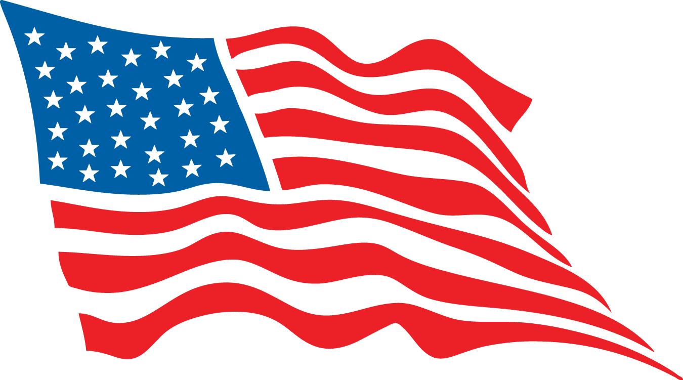 1350x751 Drawn American Flag Vector