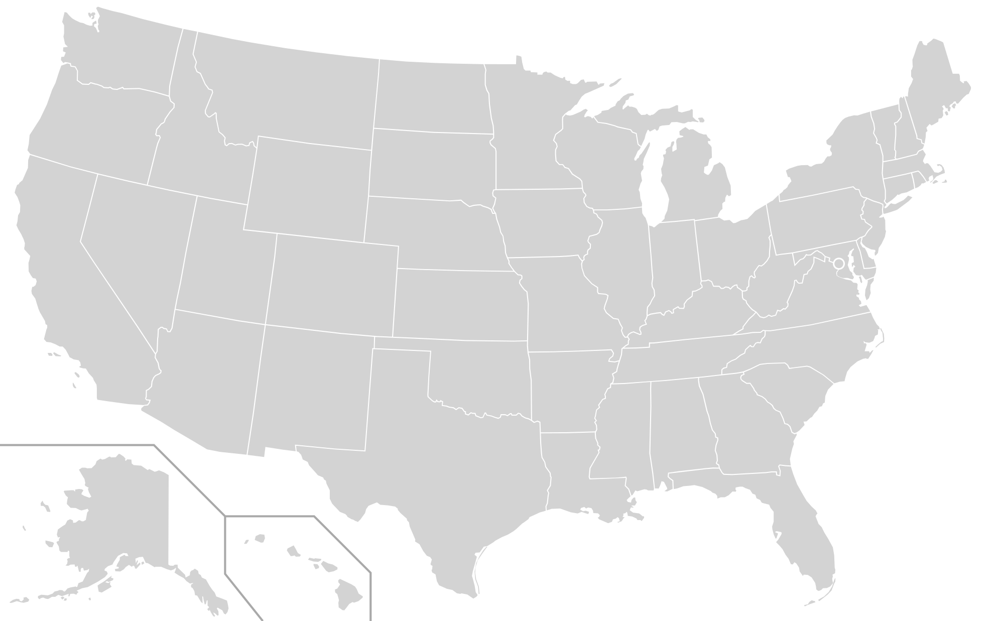 Us Map Vector At Getdrawingscom Free For Personal Use Us Map - Black-and-white-us-map-with-states