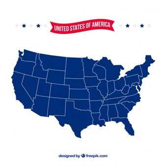 338x338 Us Map Graphic Simple Decoration Us Map Vector Free Vector In